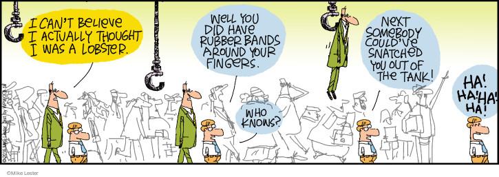 Comic Strip Mike Lester  Mike du Jour 2016-09-16 finger