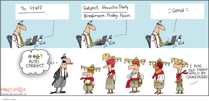 Cartoonist Mike Lester  Mike du Jour 2016-10-09 theme