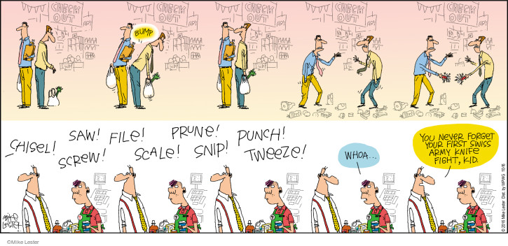 Cartoonist Mike Lester  Mike du Jour 2016-10-16 punch