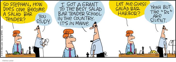 Comic Strip Mike Lester  Mike du Jour 2016-10-06 school