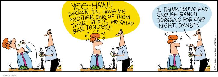 Cartoonist Mike Lester  Mike du Jour 2016-10-07 salad dressing
