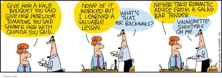 Cartoonist Mike Lester  Mike du Jour 2016-10-08 salad