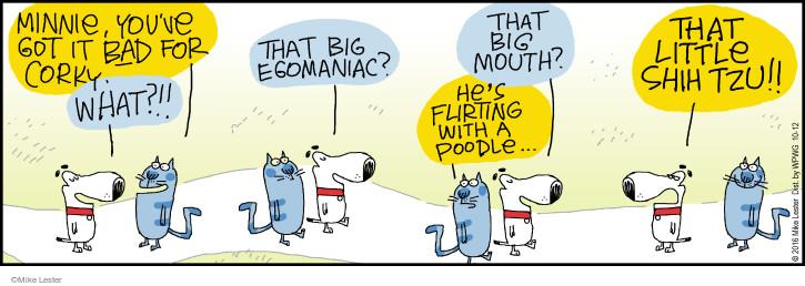 Cartoonist Mike Lester  Mike du Jour 2016-10-12 bad dog