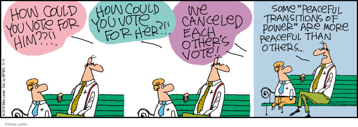 Cartoonist Mike Lester  Mike du Jour 2016-11-11 election