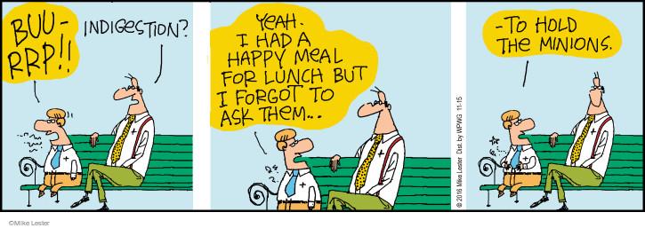 Comic Strip Mike Lester  Mike du Jour 2016-11-15 meal
