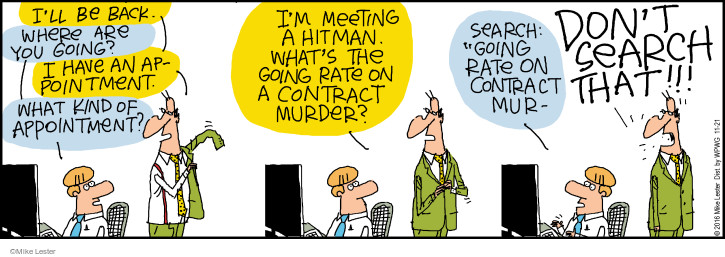 Cartoonist Mike Lester  Mike du Jour 2016-11-21 contract