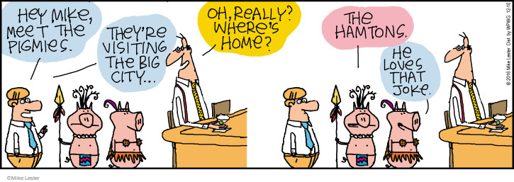 Cartoonist Mike Lester  Mike du Jour 2016-12-10 pig