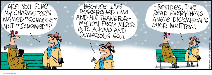 Comic Strip Mike Lester  Mike du Jour 2016-12-22 Angie