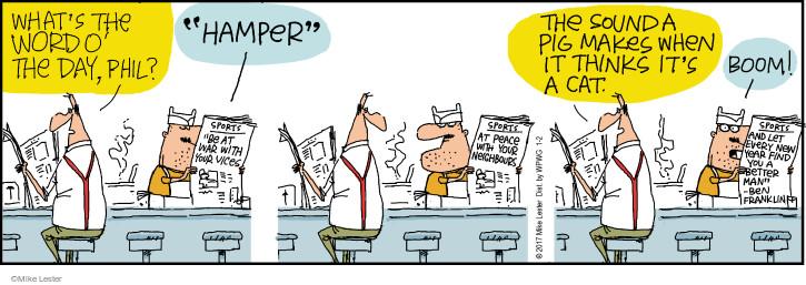 Cartoonist Mike Lester  Mike du Jour 2017-01-02 pig