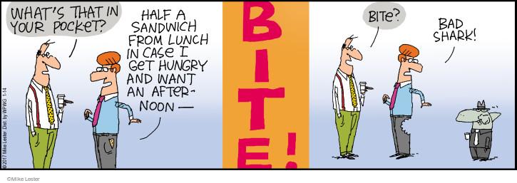 Comic Strip Mike Lester  Mike du Jour 2017-01-14 sandwich