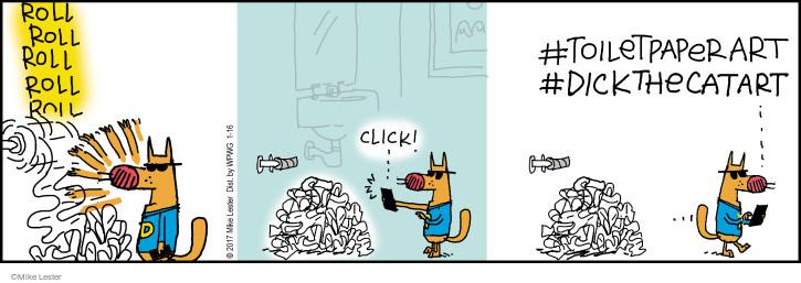 Comic Strip Mike Lester  Mike du Jour 2017-01-16 toilet