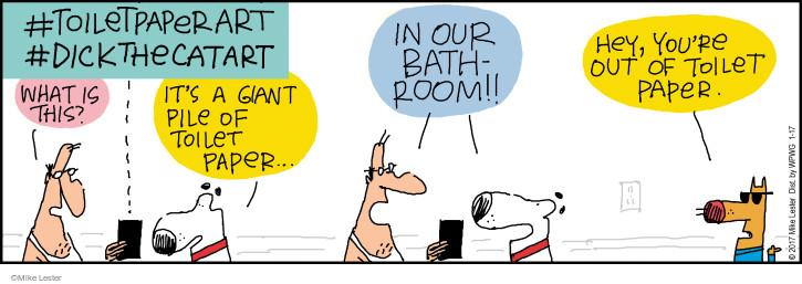 Comic Strip Mike Lester  Mike du Jour 2017-01-17 toilet
