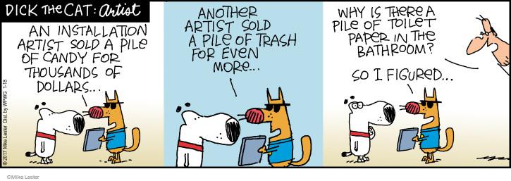 Comic Strip Mike Lester  Mike du Jour 2017-01-18 toilet