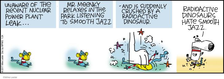 Cartoonist Mike Lester  Mike du Jour 2017-01-24 nuclear