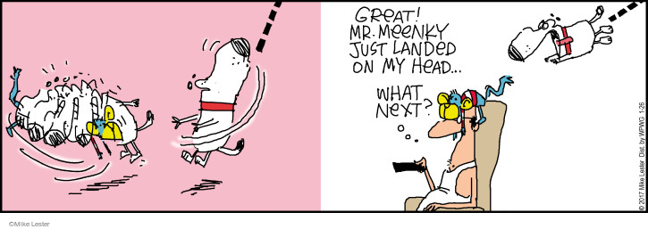 Comic Strip Mike Lester  Mike du Jour 2017-01-26 stuffed toy