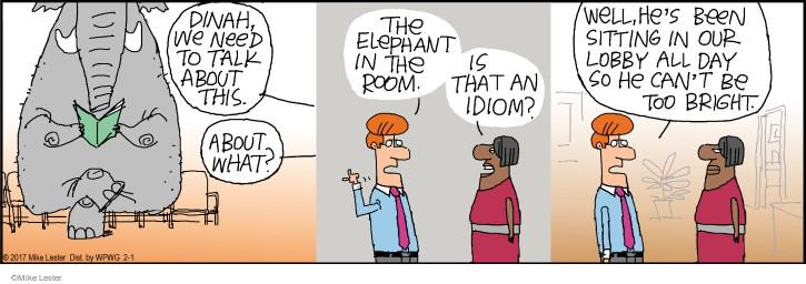 Cartoonist Mike Lester  Mike du Jour 2017-02-01 intelligence
