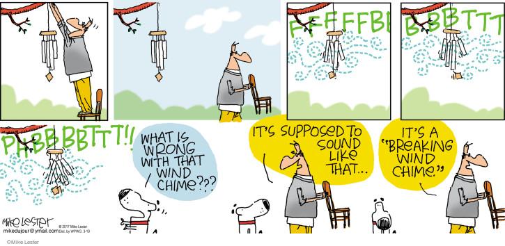 Cartoonist Mike Lester  Mike du Jour 2017-03-19 break