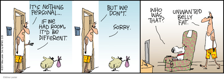 Cartoonist Mike Lester  Mike du Jour 2017-02-25 overweight