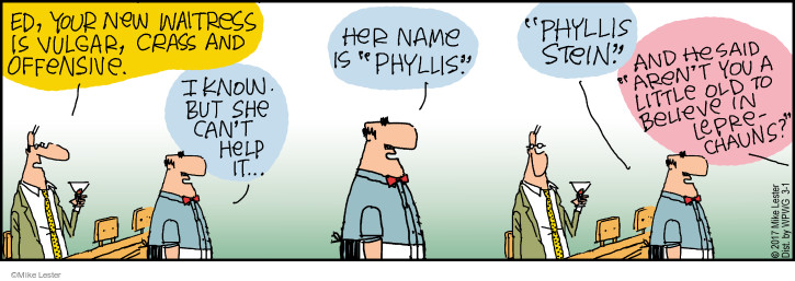 Comic Strip Mike Lester  Mike du Jour 2017-03-01 Phyllis