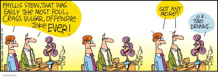 Cartoonist Mike Lester  Mike du Jour 2017-03-04 joke