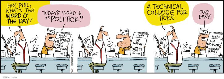 Comic Strip Mike Lester  Mike du Jour 2017-03-22 school