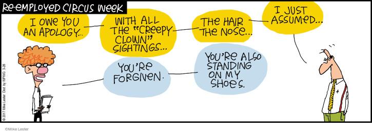 Comic Strip Mike Lester  Mike du Jour 2017-03-28 shoe