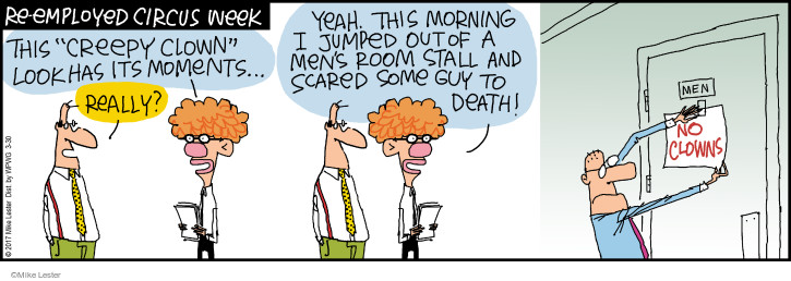 Cartoonist Mike Lester  Mike du Jour 2017-03-30 employment