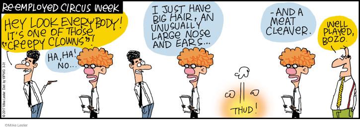 Comic Strip Mike Lester  Mike du Jour 2017-03-31 hair