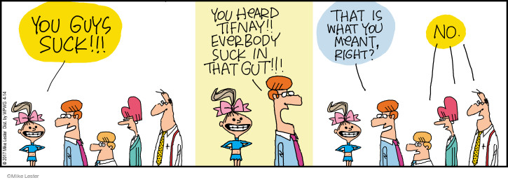 Comic Strip Mike Lester  Mike du Jour 2017-04-14 weight