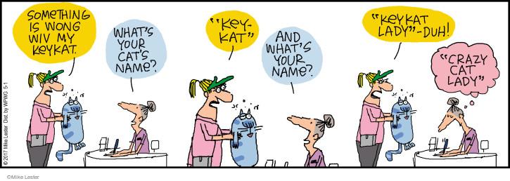 Comic Strip Mike Lester  Mike du Jour 2017-05-01 cat name