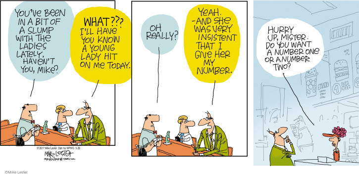 Comic Strip Mike Lester  Mike du Jour 2017-05-28 out of order