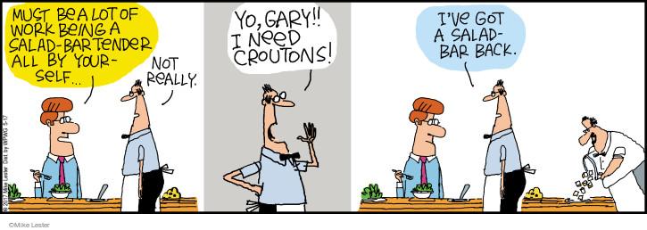 Cartoonist Mike Lester  Mike du Jour 2017-05-17 salad