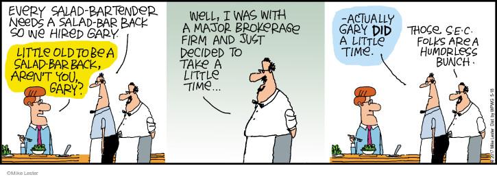 Cartoonist Mike Lester  Mike du Jour 2017-05-18 salad