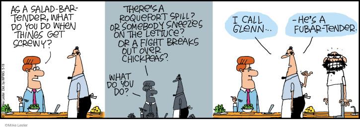 Cartoonist Mike Lester  Mike du Jour 2017-05-19 salad