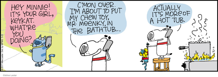 Comic Strip Mike Lester  Mike du Jour 2017-05-22 chew toy