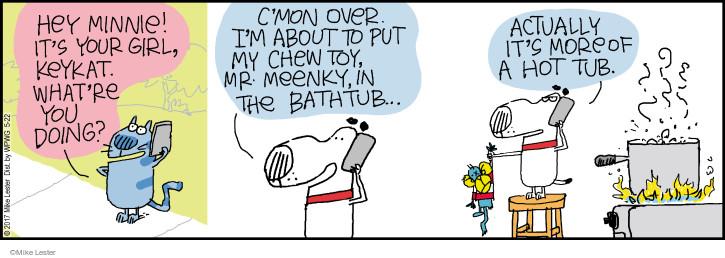 Comic Strip Mike Lester  Mike du Jour 2017-05-22 c'mon