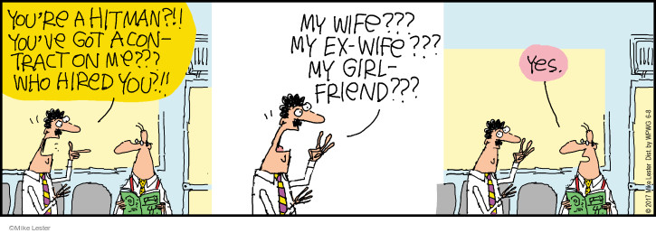 Comic Strip Mike Lester  Mike du Jour 2017-06-08 ex-wife