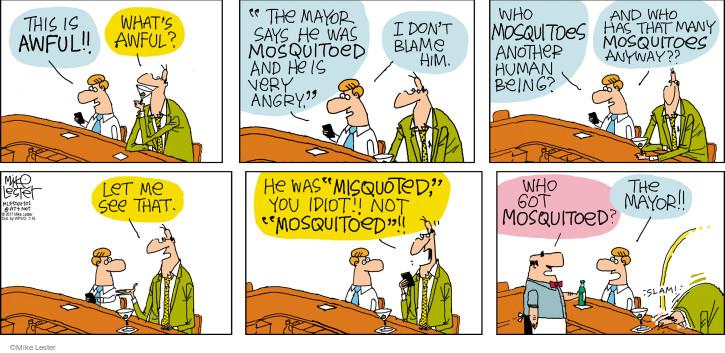 Comic Strip Mike Lester  Mike du Jour 2017-07-16 mayor