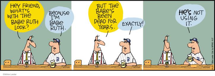 Comic Strip Mike Lester  Mike du Jour 2017-06-27 baseball