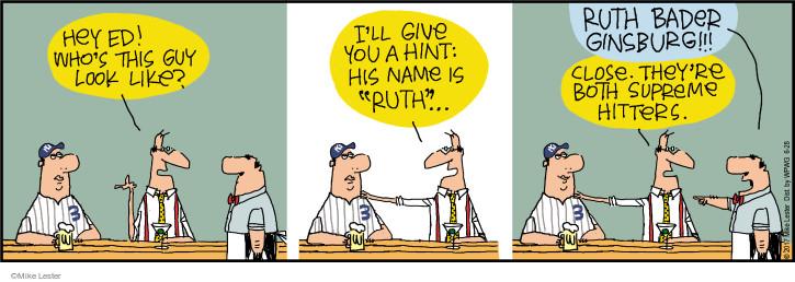 Comic Strip Mike Lester  Mike du Jour 2017-06-28 baseball hitter