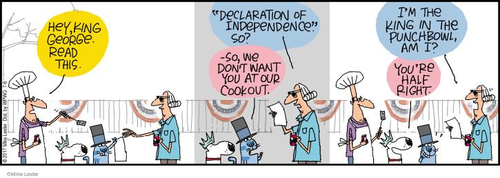 Cartoonist Mike Lester  Mike du Jour 2017-07-06 holiday