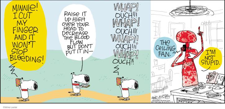 Comic Strip Mike Lester  Mike du Jour 2017-08-13 finger