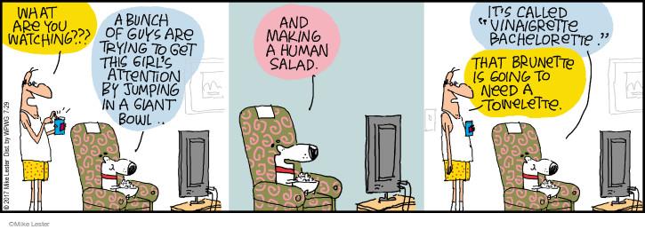 Cartoonist Mike Lester  Mike du Jour 2017-07-29 human