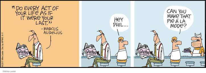 Cartoonist Mike Lester  Mike du Jour 2017-08-11 order