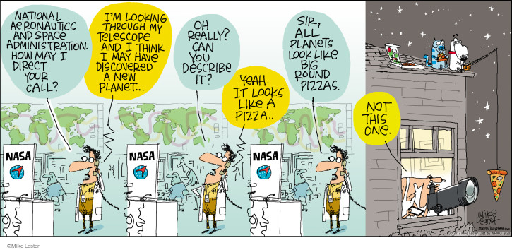 Comic Strip Mike Lester  Mike du Jour 2017-08-20 pizza