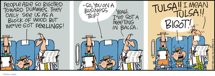 Cartoonist Mike Lester  Mike du Jour 2017-08-16 airplane travel