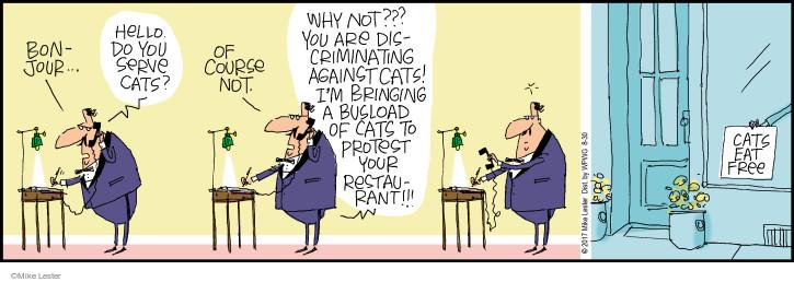 Comic Strip Mike Lester  Mike du Jour 2017-08-30 cat