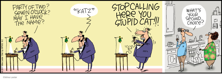 Comic Strip Mike Lester  Mike du Jour 2017-09-02 cat name