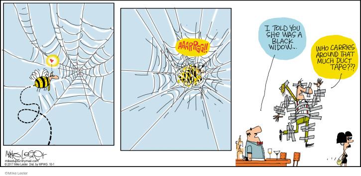Comic Strip Mike Lester  Mike du Jour 2017-10-01 black widow