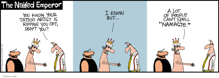 Cartoonist Mike Lester  Mike du Jour 2017-09-29 namaste